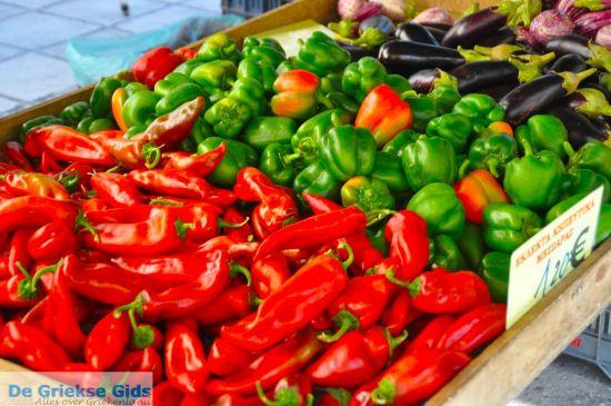 Groente is goedkoop op de markt in Griekenland